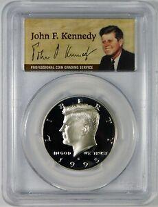 1995-S 50c Proof Kennedy Silver Half Dollar Coin PCGS PR69 DCAM **50th Ann.**