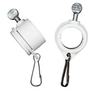 2-Piece Flag Pole Rotating Mounting Rings Attachment Metal Clip Anti Wrap Tool