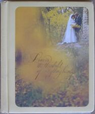 VINTAGE 70s HALLMARK Wedding Memory Photo Album Funky Mod Hippie Photo Graphics