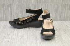 Clarks Reedly Salene Wedge Sandal, Women's Size 9.5W, Black