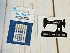 10 SCHMETZ Sewing Machines Needles Strength 90 Flat Piston for Normal Fabrics