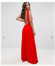 Backless Red John Zack Maxi Dress, brand new with tags - UK Size 10