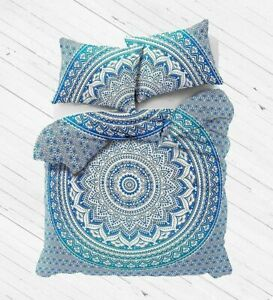 Indian Bedding Mandala Quilt Cover Queen Size Duvet Cover Boho Set