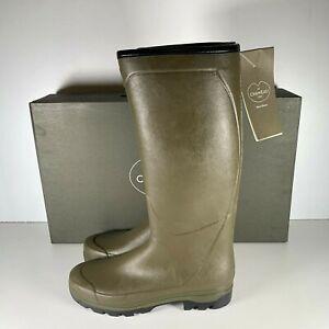 Le Chameau Country Cross Jersey Men Vert Chameau Lined Wellington Boot Size 10.5
