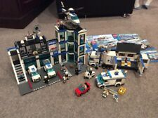 Lego City Police Station Collection Huge Lot 7498 7288 7286 7742 Minifigures Etc