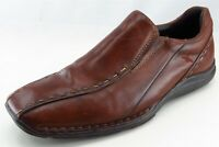 Johnson And Murphy Loafers Brown Leather Men Shoes Size 42 Medium (D, M)