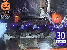 30 LED lights Halloween Light Up Black Gauze Garland Prop/Party purple