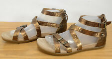 Ugg Australia Cherie Gladiator Womens Sz 9 Bronze Ankle Strap Leather Sandals