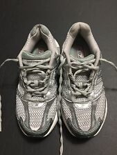 New Balance Women's 768 Stability Running Shoes Silver/Gray/Green Size 6.5M.