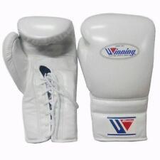 WINNING Boxing Gloves MS-600 Lace Up Pro Type Training 16 oz White Japan NEW