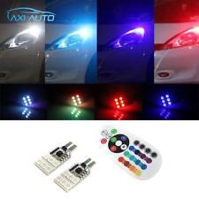 2x T10 194 168 2825 W5W LED RGB Color Car Truck Interior Wedge Side Light Strobe