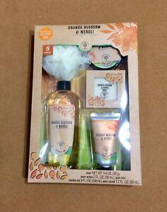 5 Piece Bath Accessories Orange Blossom & Neroli