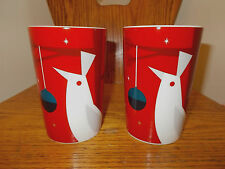 Starbucks Coffee Latte Tea Cups Pair Holiday Doves 2012 Mint Nwob Collectible