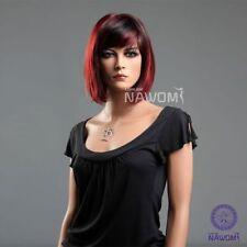new fashion girls women bob Short straight red black wig hair ladies cosplay