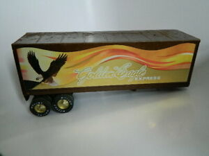 """Vintage Nylint Golden Eagle Express 25"""" Semi Truck with Trailer"""