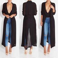 Ladies Parka Outwear Coat Women Long Sleeve Cardigan Jacket Windbreaker Fashion