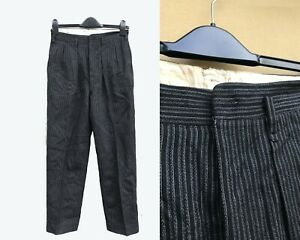 Vintage 1920s Style Japanese Suit Trousers Pinstripe Evening Dinner - All Sizes