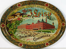 Vintage J. Leisy brewing Co Cleveland ad reproduction steel sign bar decor