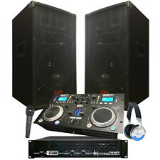 Starter Dj System - 2100 WATTS - Connect your Laptop, iPod, USB, MP3's or Cd's!