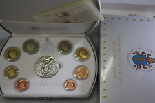 VATICANO 2003 SERIE DIVISIONALE PROOF FS PP BE 8 MONETE EURO + SILVER MEDAL AG