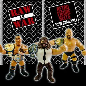 Custom Retro Wrestling Figure Belts Mattel/Hasbro WWE WWF NJPW ROH AEW