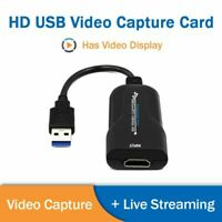 Portable USB 3.0 to HDMI HD 1080P 60fps Monitor Video Capture Cards For Computer