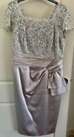 Anthea Crawford, Sequin Lace and Silky Tie-front dress, Size 14