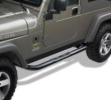 "3"" Black Side Step Rail Nerf Bar Running Boards Fit 1997-2006 Jeep Wrangler TJ"