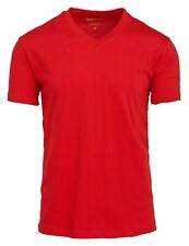 Men's V Neck T Shirts 100% Cotton Premium Heavy Weight Short Sleeve Solid Colors