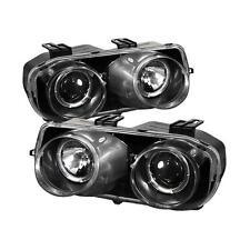 Projector Head Lights Lamps Acura Integra 1994-1997 HALO - Black