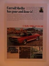 1967 Print Ad Ford Mustang Cobra Shelby 350/500 Muscle Car Automobile