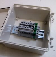 Solar Transition Pass-through Box - Terminal Junction Box -  9-Position + Ground