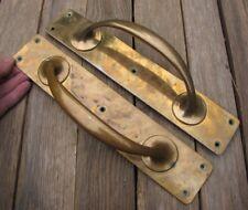 """Bronze Pair of Old Door Pull Handles 4 of 4 Pairs 12"""""""