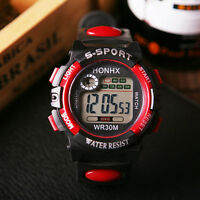 Digital Men's Women's Sports LED Quartz Alarm Day Date Rubber Band Wrist Watch