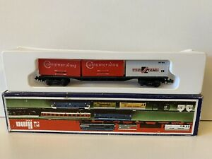 LIMA N GAUGE  SEALAND & CONTAINERWAY CONTAINER FREIGHTLINER WAGON