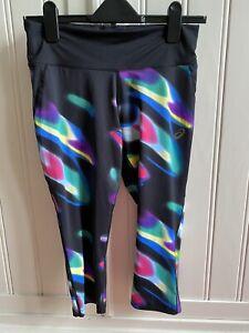 Asics Sport Cropped Leggings Ladies Size Medium Multicoloured And Never Worn