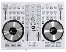 EPSILON PRO-MIX2 MIDI USB DJ Controller+Virtual DJ Software w/Soundcard  - White