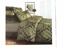 ACCESSORIZE DOUBLE BED OLIVE GREEN JACQUARD QUILT COVER SET