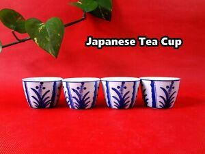 Handmade Japanese Style Classic Porcelain Tea Cups 4pcs/set (Hand Printed) WJ-29