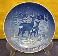 1965 Bing & Grondahl Christmas Plate I Skoven For Jul Denmark Danish Blue