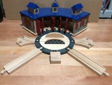 Thomas Wooden Railway Roundhouse + Track