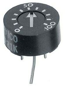 TT Electronics TOP ADJUST TRIMMER POTENTIOMETERS 12.7mm 5Pcs 100kΩ 1W Solder Pin