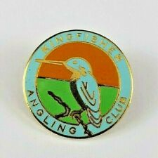 Kingfisher Angling Club Enamel Pin Badge - Fishing - Anglers - Outdoors Sport
