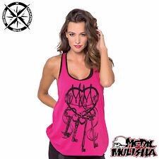 METAL MULISHA 'EVOLUTION TANK' WOMENS VEST SLEEVELESS SHIRT SMALL UK 8 RRP £36