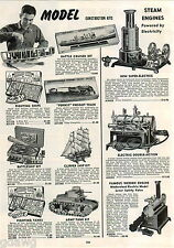 1942 ADVERT Weeden Steam Engine Hobby Line Model Kit Army Tank Pennsy Train
