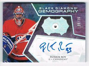 2020-21 Black Diamond Gemography Relic Autograph #G-PR Patrick Roy 20/25