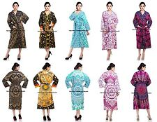 5 PC LOT Indian Ombre Mandala Bath Robe Evening Gown Nightwear Lingerie Cover Up