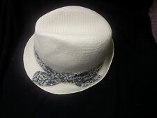 Kangol Straw Trilby Liberty-White or Black-Made in Italy-Large-NWT