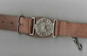 Boy Scouts Canada Old Leather Belt & Buckle