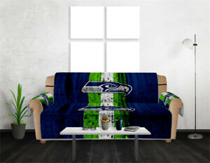Seattle Seahawks Chair Sofa Couch Cover Waterproof Slipcover Furniture Protector